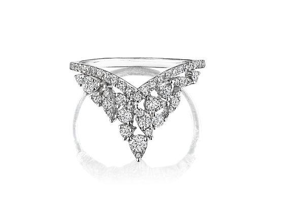Cascading Diamond Ring