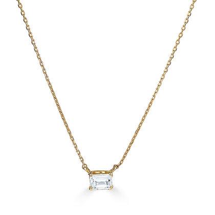.26ct Baguette Cut Diamond Solitaire Necklace