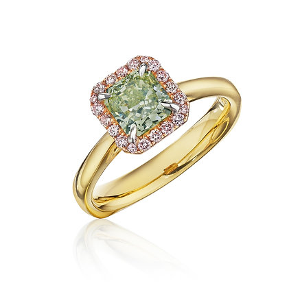Green Diamond Ring - No other Words Needed