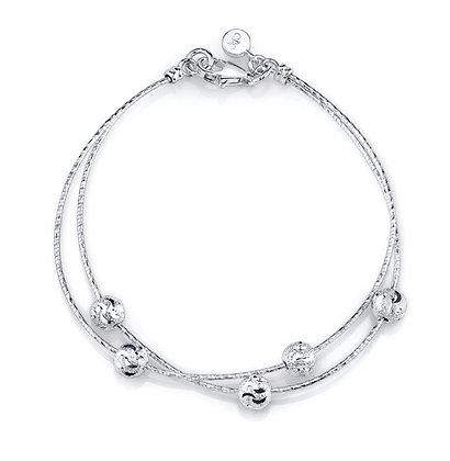 Diamond Cut Sterling Silver Bracelet
