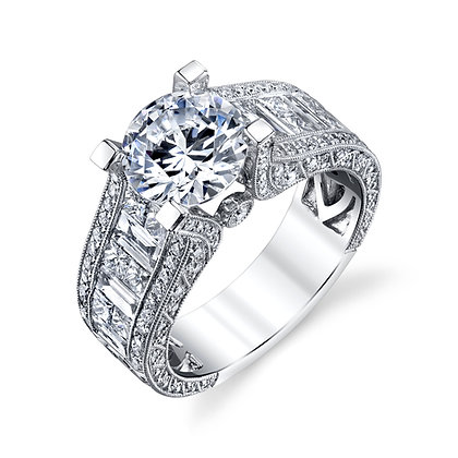 Stunning Princess and Baguette Remount Ring