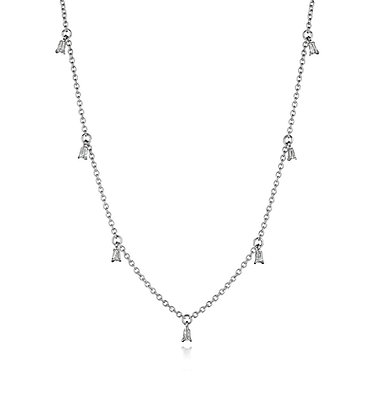 Shimmering Shield Cut Diamond Necklace