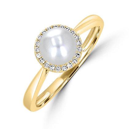 .07 Halo Diamond Ring