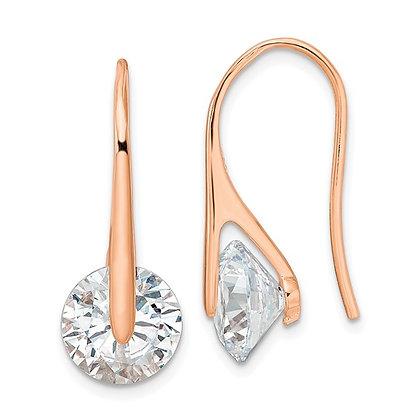 Sleek & Sparkling CZ Earrings