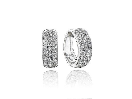1.37ctw Diamond Hoops