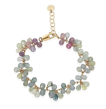 Gold Fill Tourmaline Drop Bracelet
