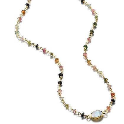 Moonstone & Tourmaline Necklace
