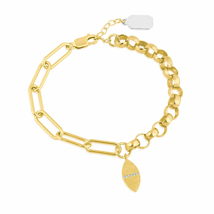 Gold Plated Fanciful Link Bracelet