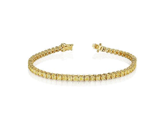 11.05ctw Yellow Diamond Tennis Bracelet