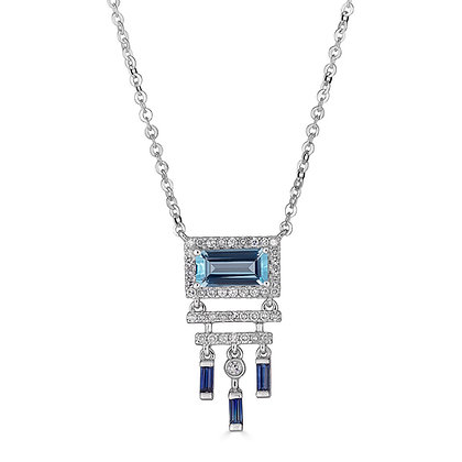 Hues of Blue & Diamond Necklace