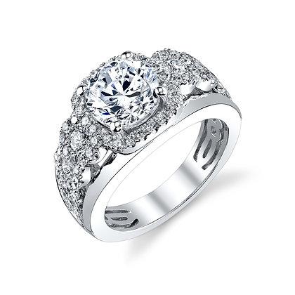 1.01ctw Diamond Semi-Mount