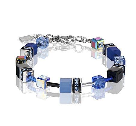 Bright Blue & Black Geo Cube Bracelet
