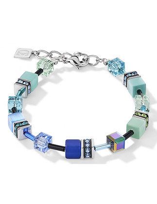 Aqua Geo Cube Bracelet