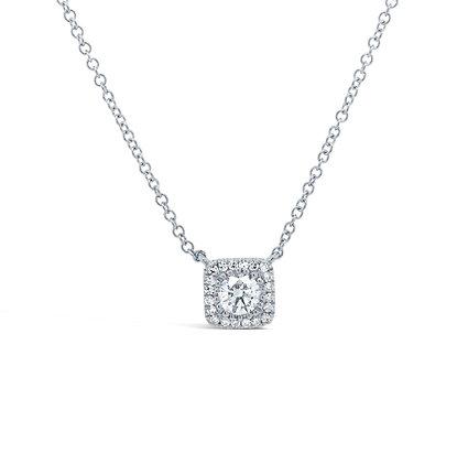 Distinctive Diamond Halo Necklace