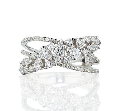 Sweeping Diamond Ring