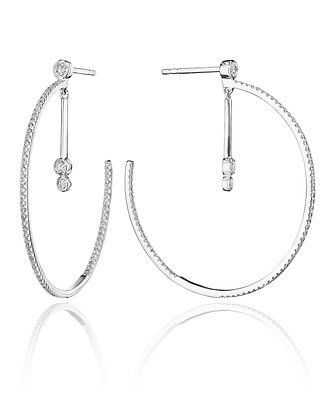 Diamond Hoops Presented with Dangles