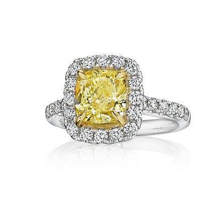 3.13ctw Yellow Diamond Dream Ring