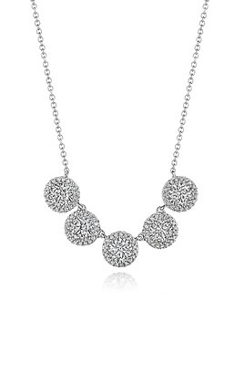 2.25ctw Diamond Halo Necklace