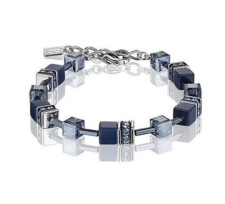Shades of Blue Geo Cube Bracelet