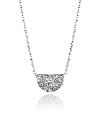 Deco Inspired Diamond Necklace