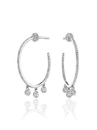 Heightened Style Diamond Hoops