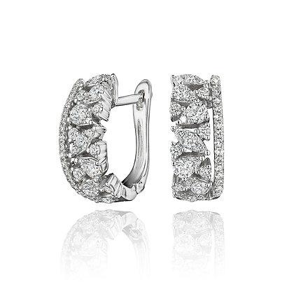 Fanciful Diamond Hoops