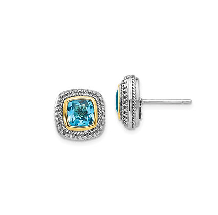On Trend Blue Topaz Earrings
