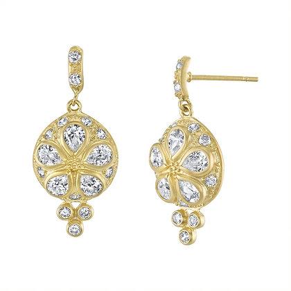 Crystal & Gold Vermeil Earrings