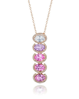 Shades of Sapphires Necklace