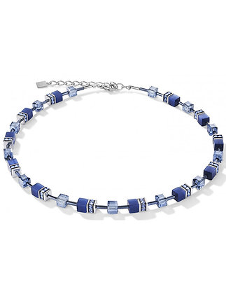 Shades of Blue Geo Cube Necklace