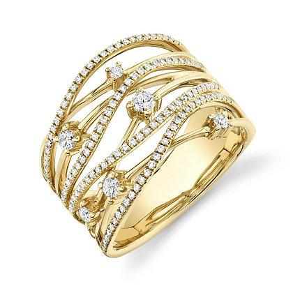 .49ctw Multi-Row Diamond Ring