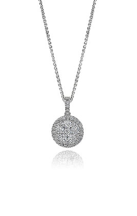 Brilliant Diamond Cluster Pendant