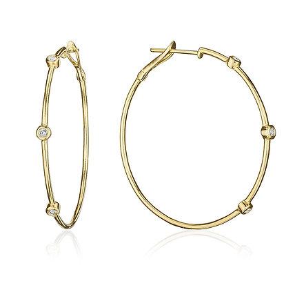 Golden Diamond Hoops