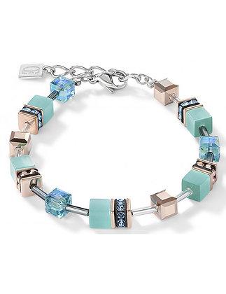 Sea Green and Rose Tone Bracelet