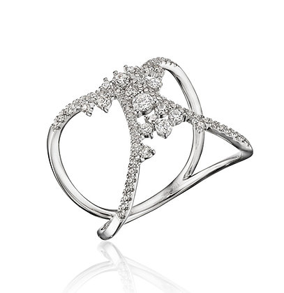 Open Drizzling Diamond Ring