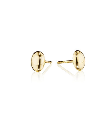 Puffed 14kt Yellow Gold on Posts