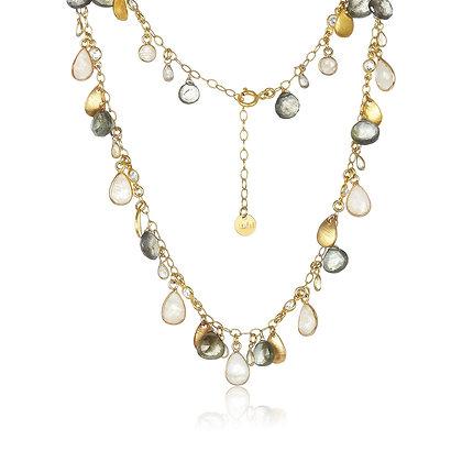 Dangling Gemstone Necklace