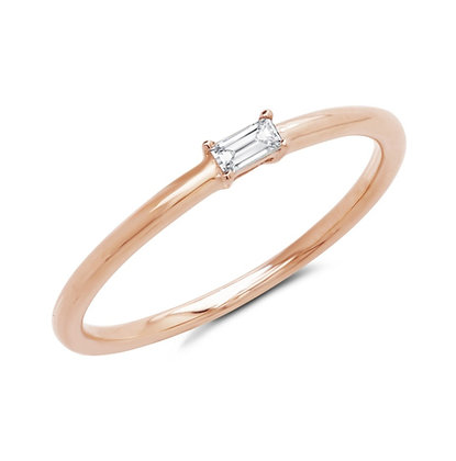 Baguette Solitaire Ring