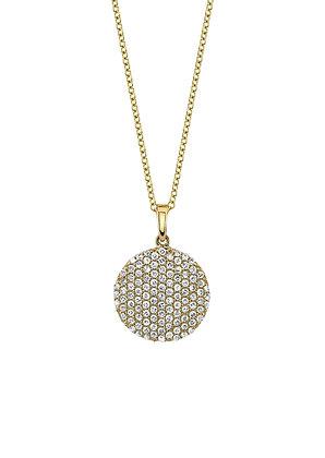 Domed Pavé Set Diamond Necklace