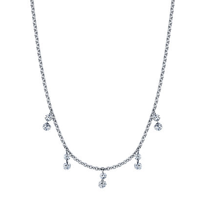 Light Catching Diamond Dangle Necklace