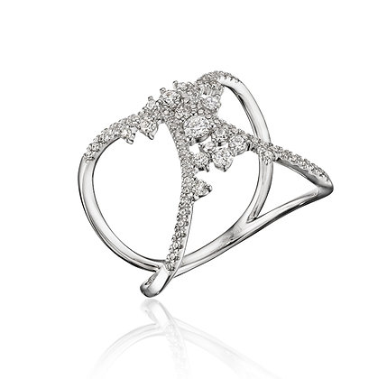 Open Drizzling Diamond Ring