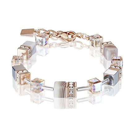 Apricot Geo Cube Bracelet