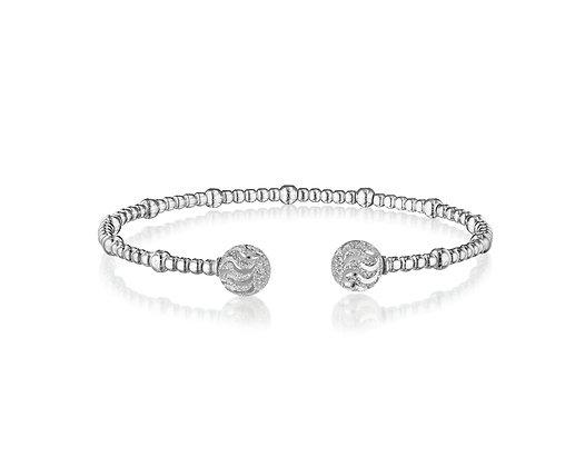 Sterling Silver Diamond-Cut Cuff