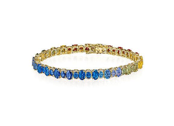 .48ctw Diamond and Rainbow Sapphire Bracelet