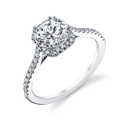 Romantic Engagement Ring Mounting