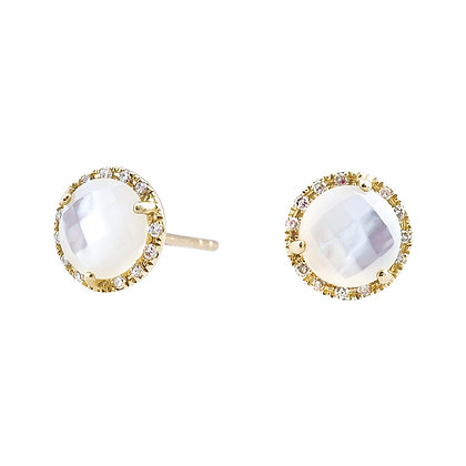 Mother of Pearl Halo Earrings