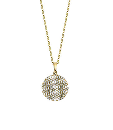 Brilliant Domed Diamond Pendant