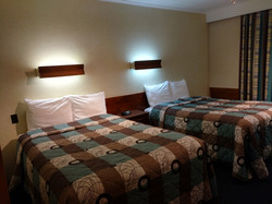 Two Double XL beds room