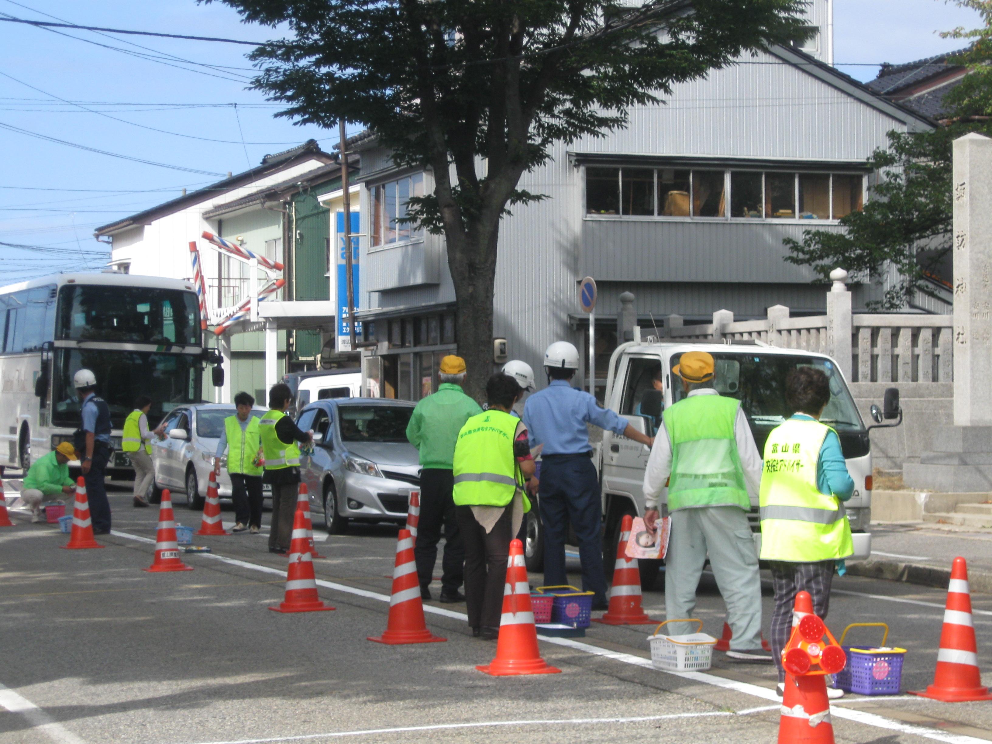 交通安全街頭キャンペーン(岩瀬支部)