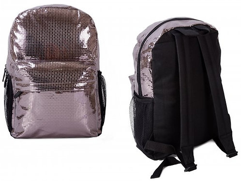 SILVER AND BLACK BACKPACK